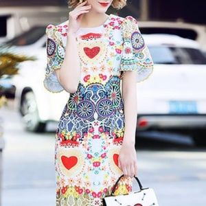 colorful summer evening dress